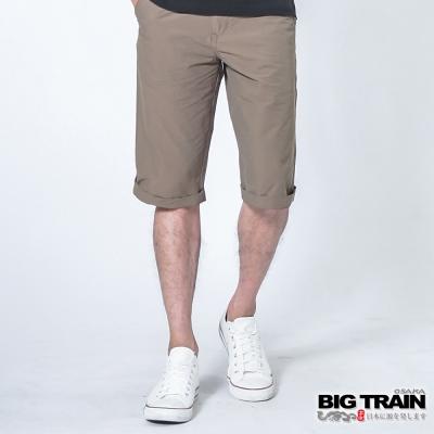 BIG TRAIN 透氣涼感休閒短褲-男-深卡其
