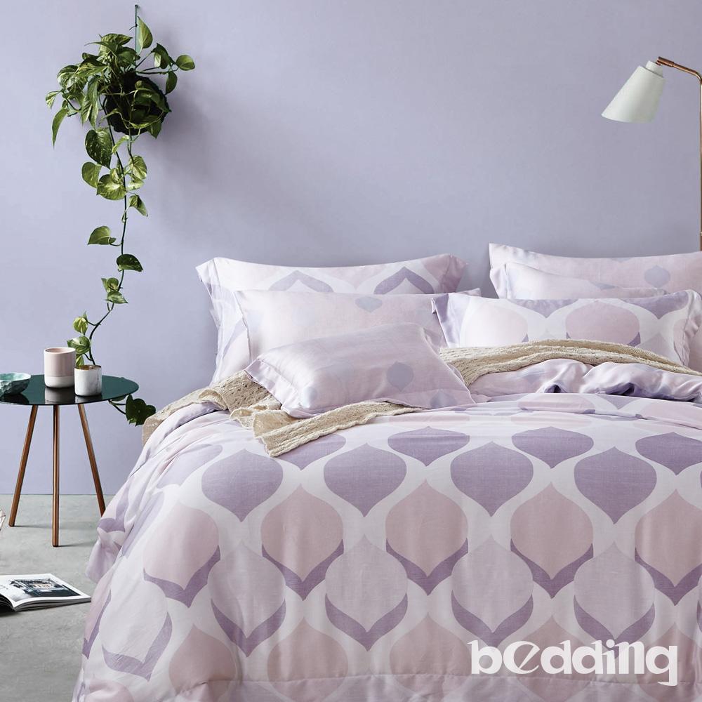 BEDDING-100%天絲萊賽爾單人薄床包鋪棉兩用被套 三件組 高36公分-慕格