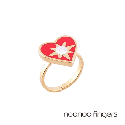 Noonoo Fingers Mashangs Ring Mashangs 愛心光芒戒指