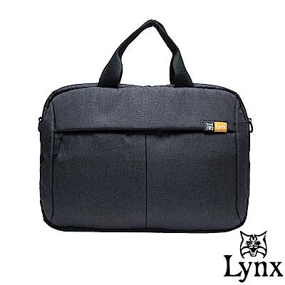 Lynx - 山貓質男防撥水休閒公事包-黑