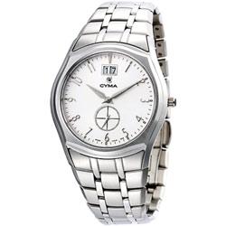 CYMA 簡約都會知性小秒針時尚腕錶-白/39mm