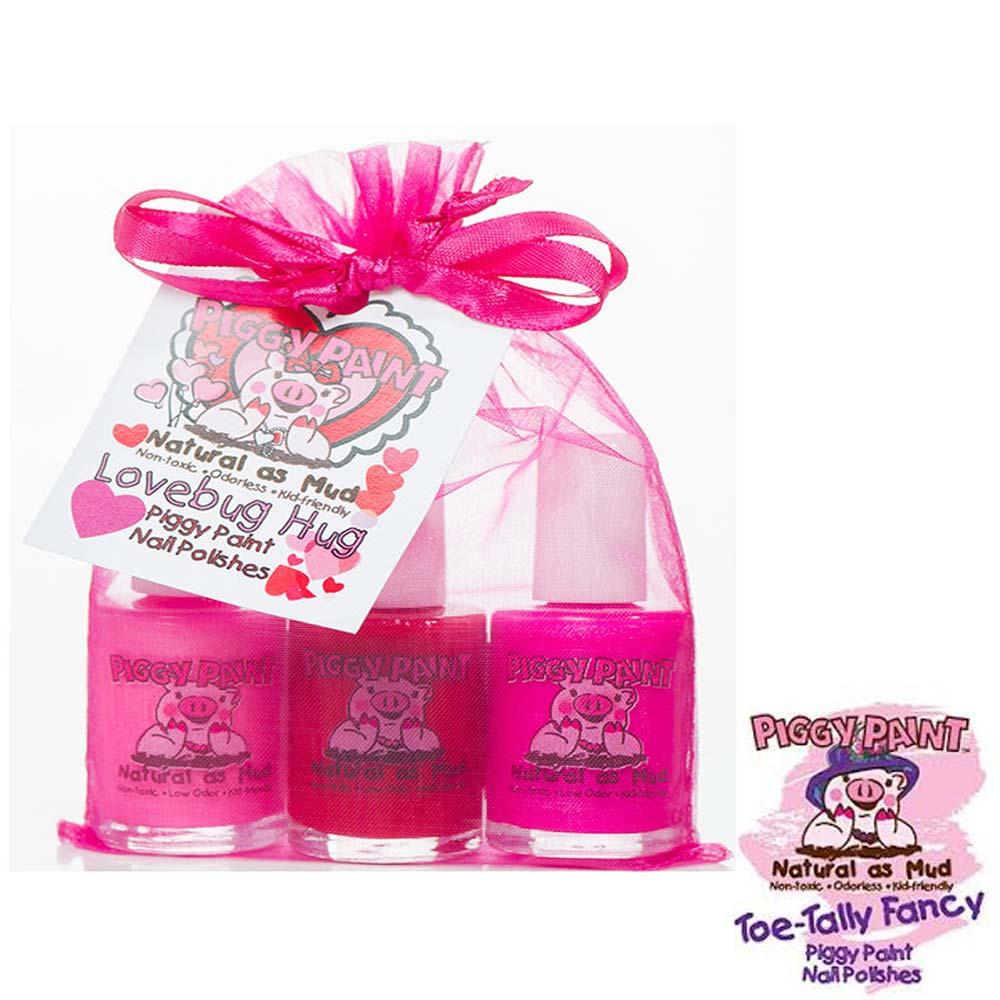 Piggy Paint 天然無毒兒童專用指甲油禮盒組-蜜桃紅