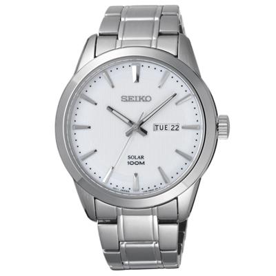 SEIKO 萬象光照時尚太陽能腕錶-SNE359P1-43mm