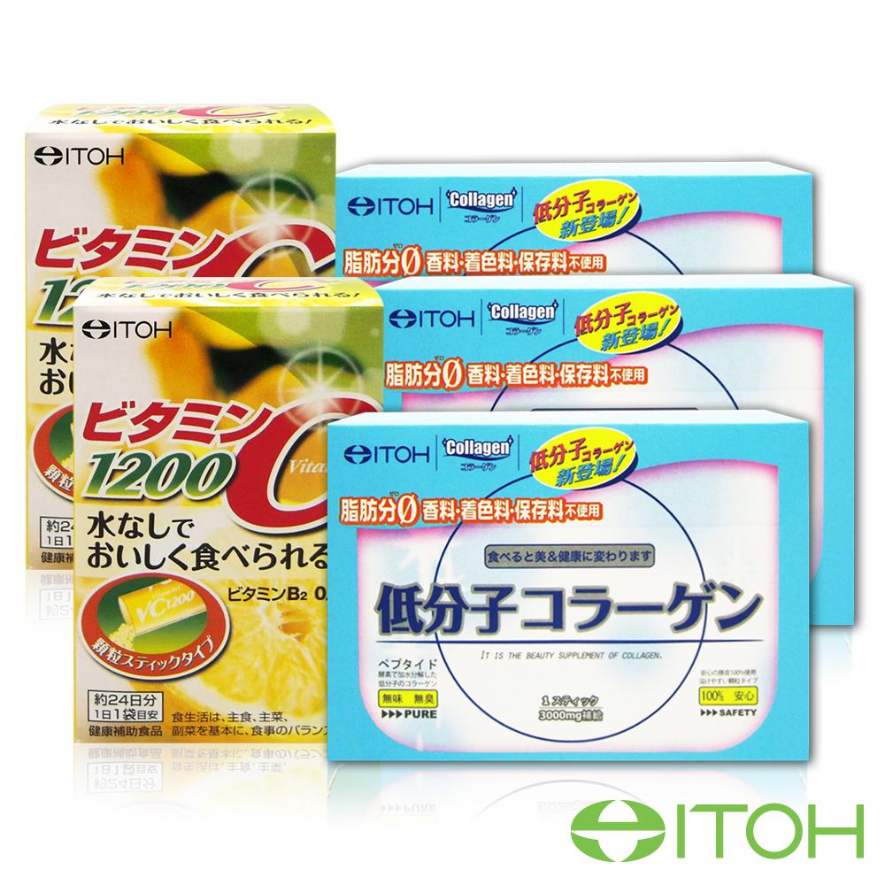 日本井藤ITOH超完美吸收組100膠原蛋白x3維生素Cx2