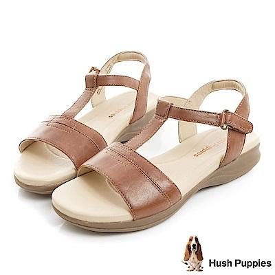 Hush Puppies HART 舒適減壓T字涼鞋-棕色