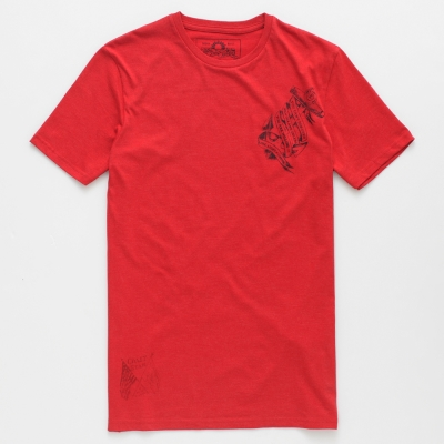 celio-百搭耐看航海探險印花短袖T恤-男款-紅色