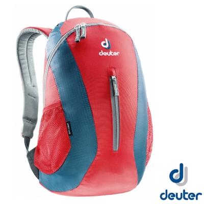 【德國 Deuter】City Light 16L 輕量級拔熱透氣休閒背包 紅/深藍
