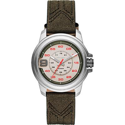 DIESEL SPROCKET 率性時尚腕錶-灰x墨綠42mm