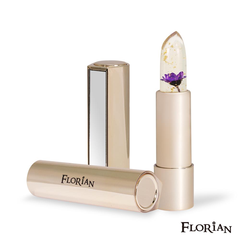 Florian金箔花瓣果凍唇膏(繽紛紫)