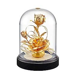 純金【立體金鑽玫瑰花】 金箔花禮品
