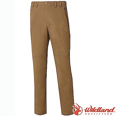 Wildland 荒野 0A61302-82卡其 男彈性輕薄抗UV長褲*大尺碼*