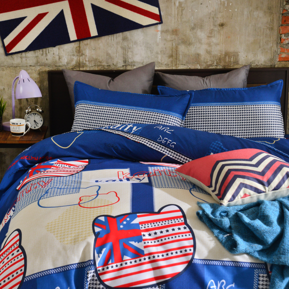 Goelia 凱蒂寶貝 單人 活性印染超細纖 全鋪棉床包兩用被三件組
