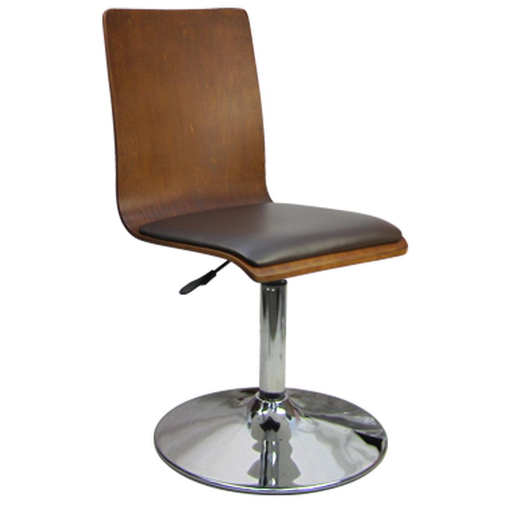 邏爵 和風曲木皮墊吧檯椅/低吧椅/事務椅/電腦椅(三色)