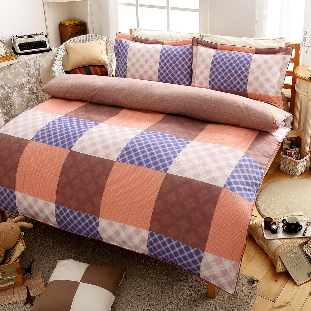 (活動)GL 交響詩篇 精梳純棉特大全鋪棉床包兩用被四件組