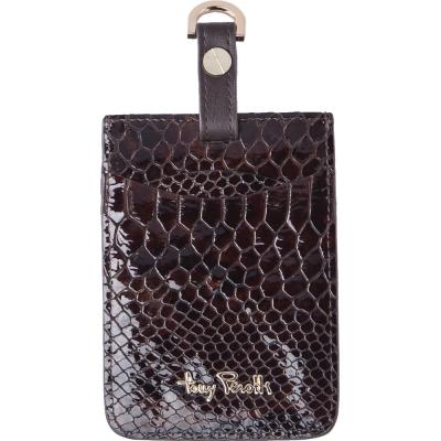 TONY PEROTTI 義大利蟒蛇紋 識別證/行李吊牌 #3300 ( 咖啡色 )