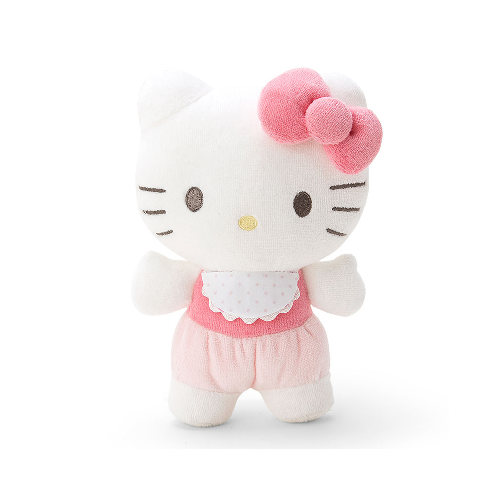 Sanrio HELLO KITTY嬰童用毛巾布可愛絨毛娃娃