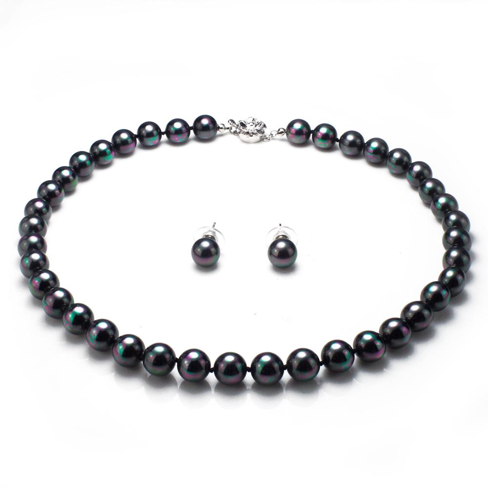 【大東山珠寶】10mm南洋貝寶珠套組(黑)