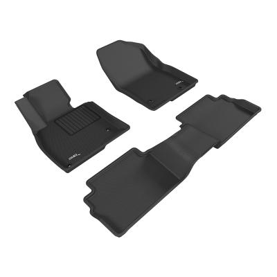 3D 神爪卡固立體踏墊 Mazda 3 2015~2016+ 後座無安全帶護蓋
