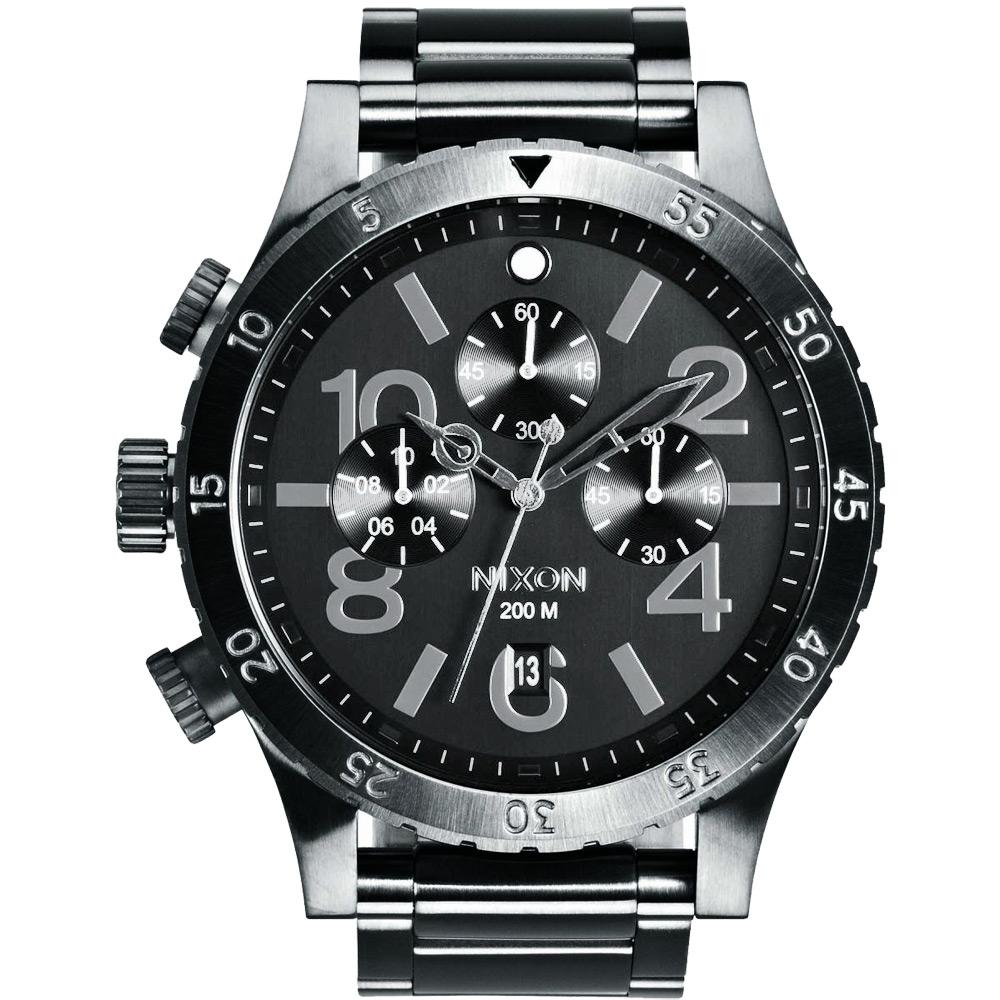 NIXON 48-20 CHRONO 潮流重擊運動腕錶-A486632/48mm