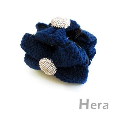 【Hera】編織浪漫 蝴蝶結造型髮夾/抓夾(三色-優雅藍)