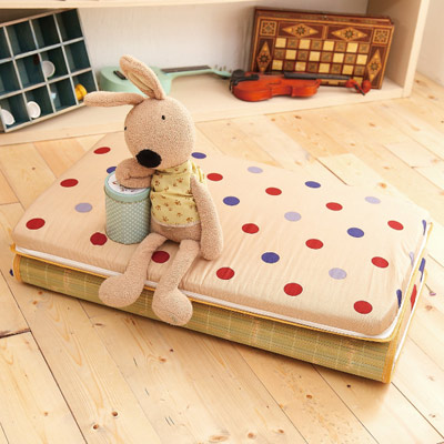 Saint Rose 單人台灣製純棉透氣精緻三折式冬夏兩用床墊-繽紛生活