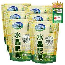 南僑水晶肥皂液体1600g x 6包/箱-檸檬香茅