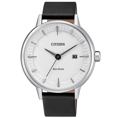 CITIZEN 星辰 俐落簡約 光動能男錶(BM7370-11A)-白/41.5mm