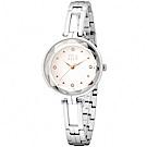 ELLE 璀璨鑽石切面不鏽鋼腕錶-銀/32mm