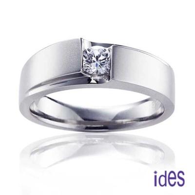 ides愛蒂思 完美王子系列30分E/VS1八心八箭完美車工鑽石戒指