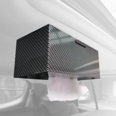 安伯特專利熱銷卡夢磁吸面紙盒轎車款休旅車款車頂面紙架磁吸式面紙盒
