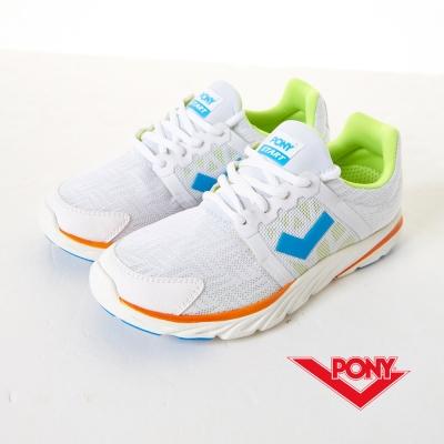 PONY-男-STAR-P系列-輕量慢跑鞋-白