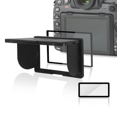 LARMOR V金屬邊框防爆鋼化玻璃相機保護貼-Nikon D750專用