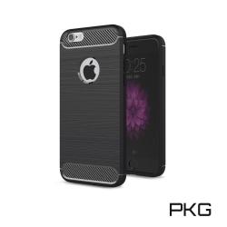 PKG  APPLE IPHONE 6S PLUS 抗震防摔手機殼-碳纖維紋系列-紳士黑