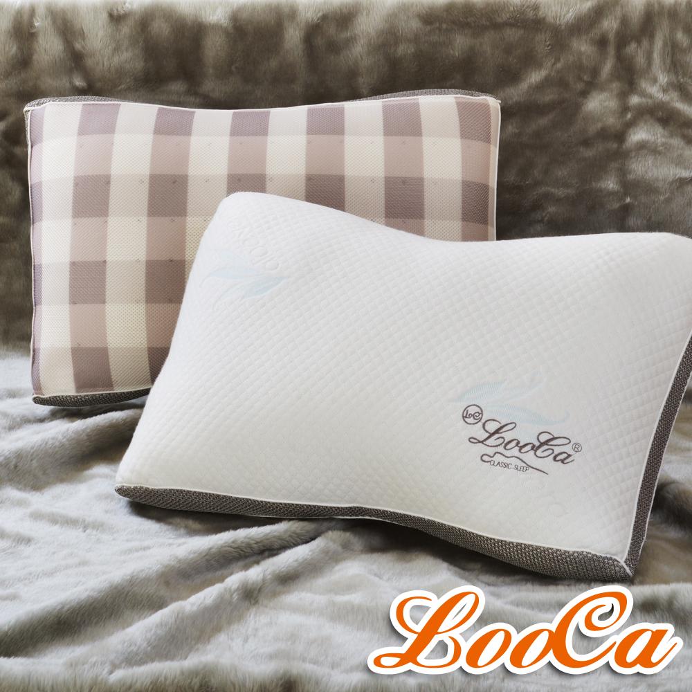 LooCa 蠶絲乳膠負離子健康獨立筒枕 2入