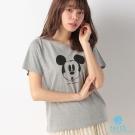 earth music Disney聯名款-趣味米奇表情短袖上衣/T恤