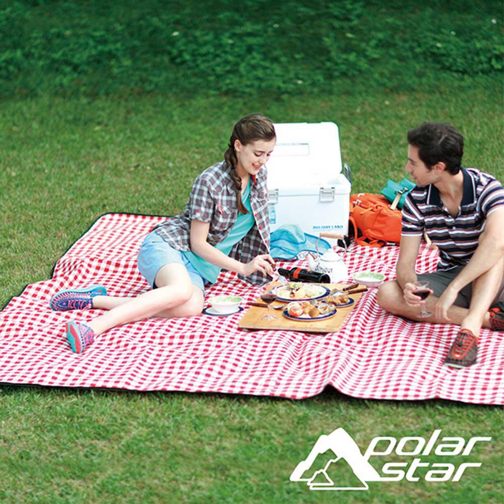 PolarStar 開司米防潮野餐墊 (270x270cm)『淺藍格』P16741