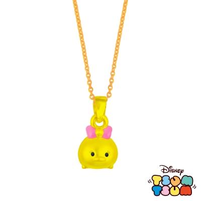 Disney迪士尼TSUM TSUM系列金飾-黃金墜子-黛絲鴨款 送玫瑰鋼項鍊