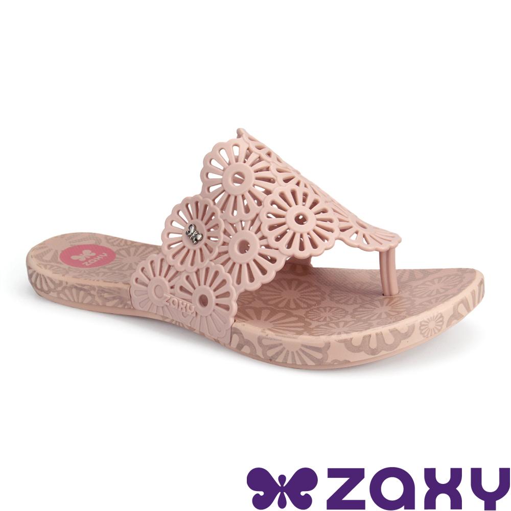 Zaxy 巴西 女 INTENSE HOLIDAY 繽紛假期夾腳拖鞋 (杏)