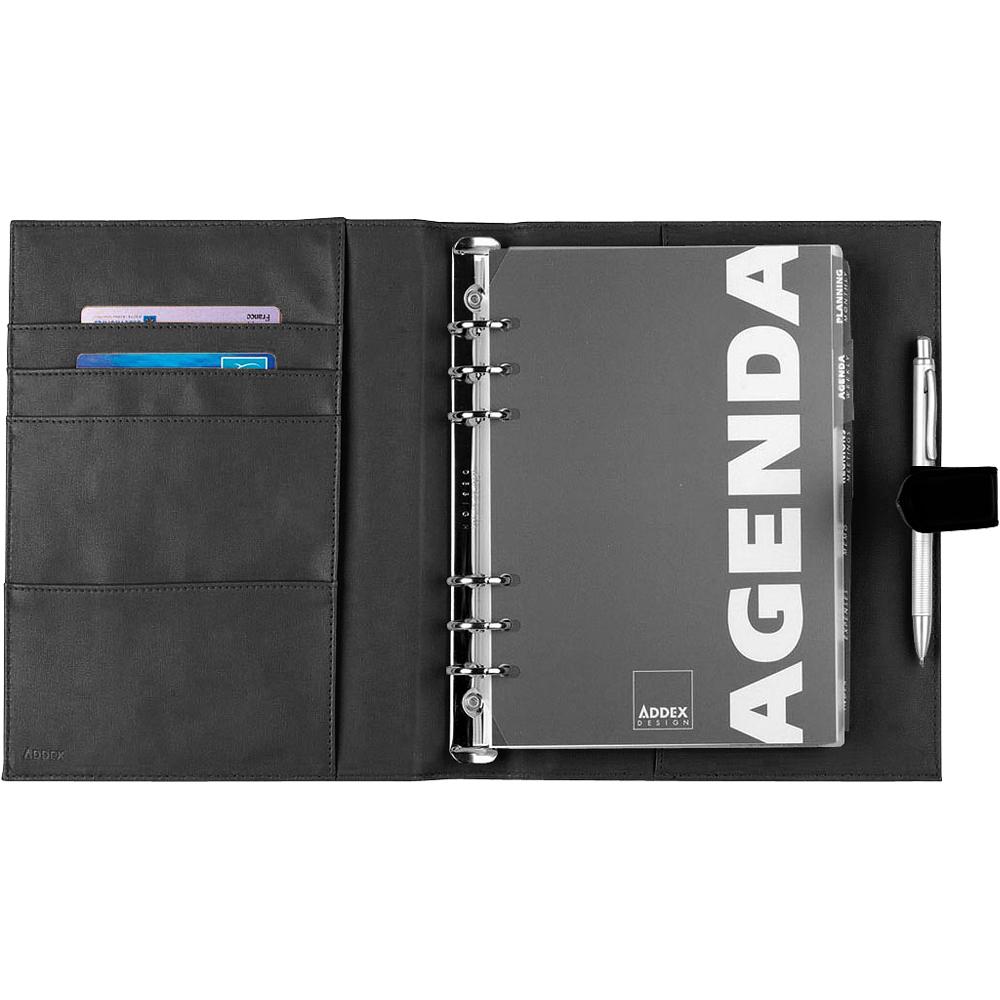 Addex A5 荔枝紋萬用筆記本(黑)