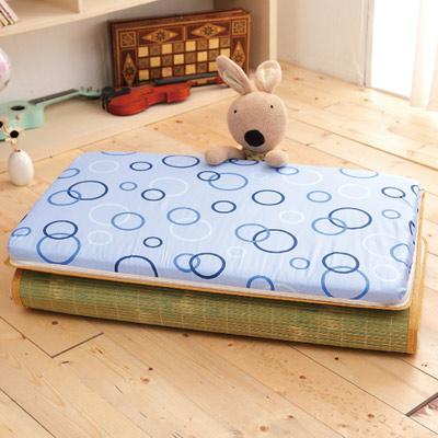 Saint Rose 單人台灣製純棉透氣精緻三折式冬夏兩用床墊-童年生活