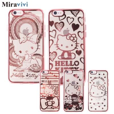 三麗鷗iPhone6/6s Plus時尚質感電鍍雷雕保護套-Kitty