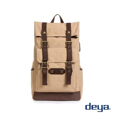 deya 樂活折蓋後背包-褐卡其 MIT台灣製造