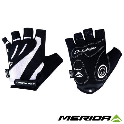《MERIDA》美利達 短指手套 黑/白 S~XXL