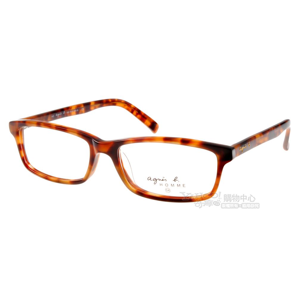 agnes b.眼鏡 經典小b/琥珀色#AB7016 DW-A