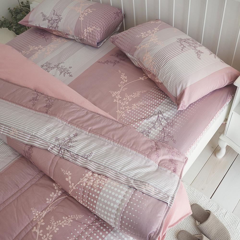 絲薇諾 MIT精梳純棉 上野之森-花開 加大四件式-薄床包鋪棉被套組
