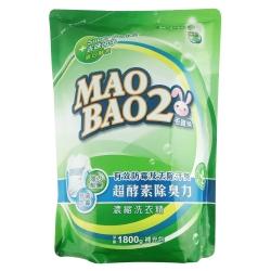 毛寶兔超酵素制臭抗菌防霉洗衣精1800g-補充包