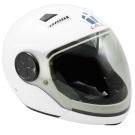 LAUS全罩下巴可拆式內置墨鏡素色安全帽-白色 L-快
