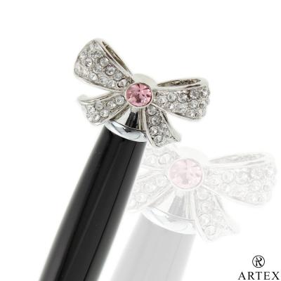 ARTEX 傾訴水鑽 迷你原子筆 粉紅蝴蝶結