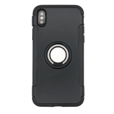 PKG  Apple IPhone X 抗震指環殼-支援磁吸車架功能