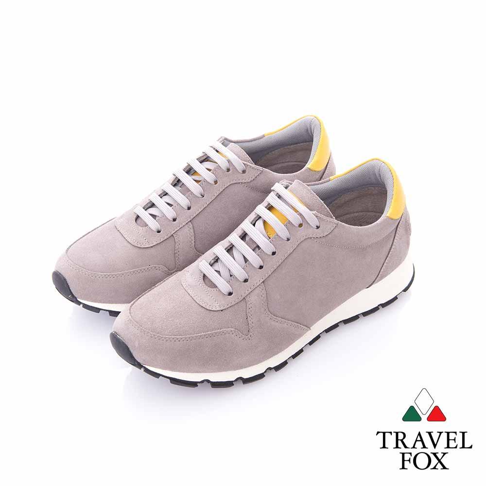 Travel Fox (男) -  反毛皮都會慢跑運動鞋- 淺灰